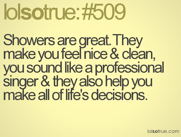 my shower has magical powers!