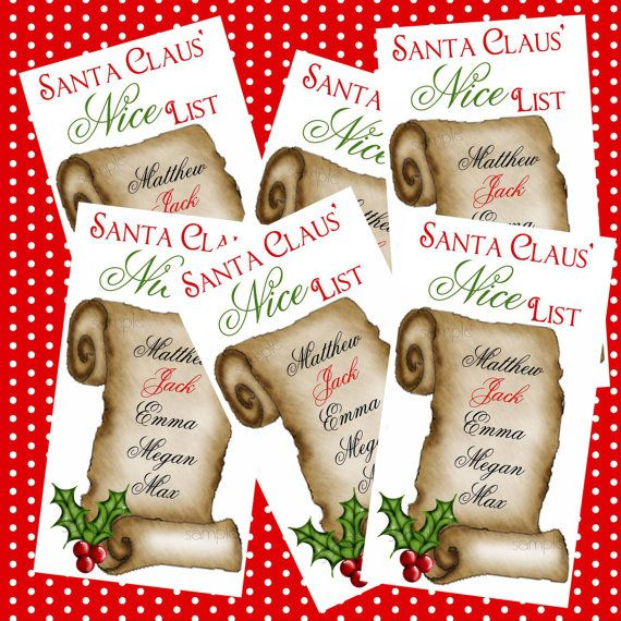 Personalized Christmas Stickers Santas Nice by LittlebeaneBoutique, $7 ...