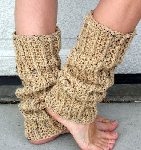 Crochet Leg Warmers : crochet leg warmers Speckled oat crochet ribbed dance trendy leg ...