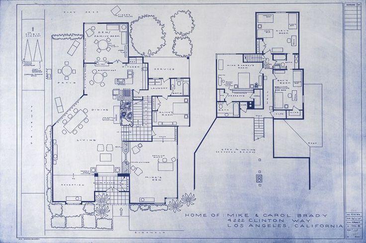 The Brady Bunch House Blueprint Sitcom Floor Plans