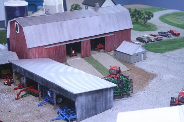 Toy tractor new series on how to build a high for Building a tractor barn