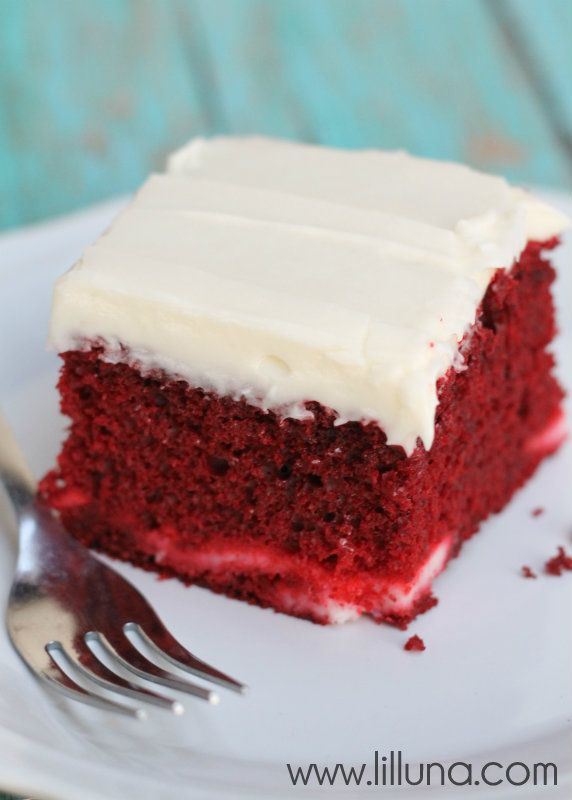 Red Velvet Cheesecake Cake with a layer of Cream Cheese goodness in ...