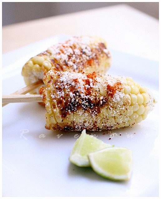 Mexican Grilled Corn SOOO GOOD! I used Chili Powder instead of Cayenne ...