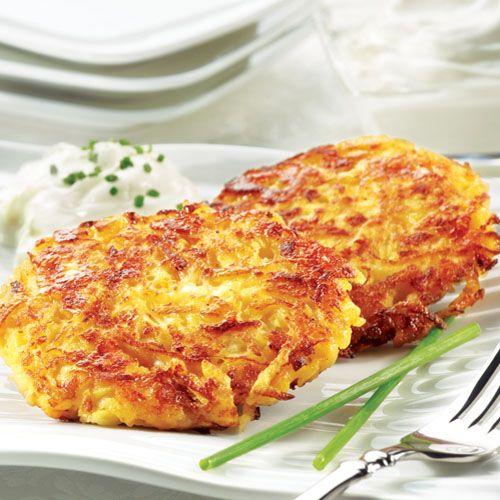 Potato Apple Latkes - uses PC 2% Greek Yogurt. #recipe
