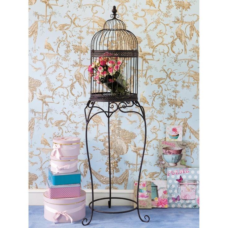 Cage oiseaux margot shabby chic pinterest for Cage a oiseaux decorative