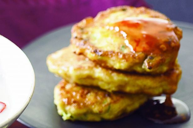 Serve these spicy corn fritters with a fragrant Thai chicken and ...