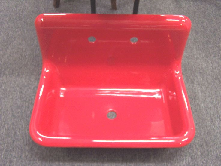 red sink  Red Farm Sink Refinished  Not My Mother's Kitchen