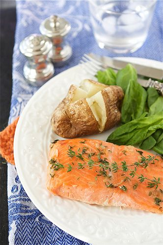 Baked Trout (or Salmon) with Honey-Thyme Glaze Recipe Quickly whisk ...