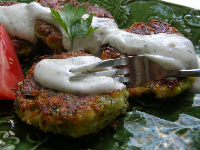 more than burnt toast: Zucchini Balls (Kolokythokeftedes)