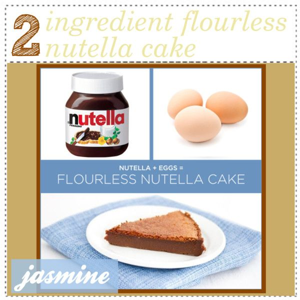 "ingredient flourless nutella cake♥"" by the-hipster-tip-sisters on ..."