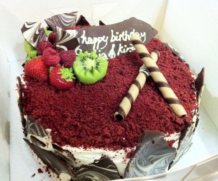 Red velvet birthday cake  Our Cakes  Pinterest