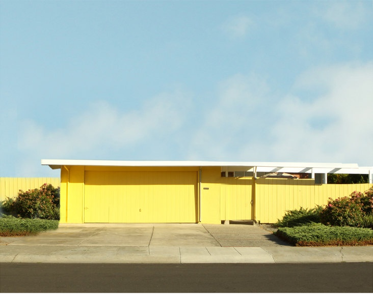 Modern architectural photography minimalist mid century for Modern house yellow