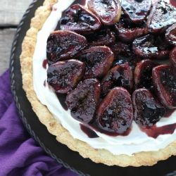 Mascarpone & Port Roasted Fig Tart | seasonal september | Pinterest