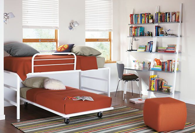 Room and Board wheeled bed