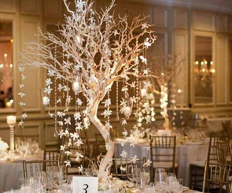 Crystal Manzanita Tree Centerpiece Wedding Board Pinterest
