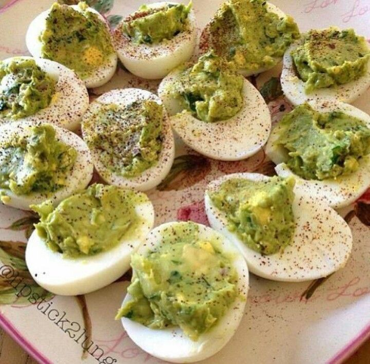 Deviled Avocado Eggs | Appetizers | Pinterest