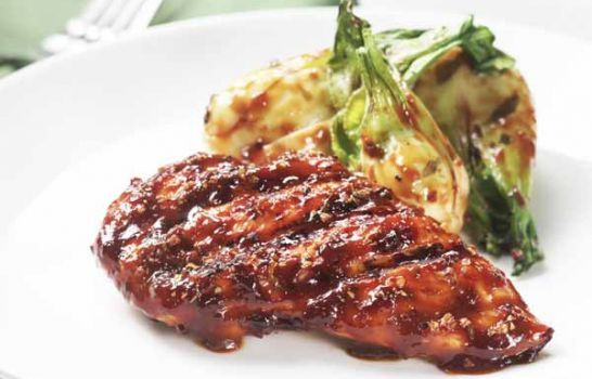 Grilled Chicken with Baby Bok Choy by Mrs. Dash. This looks SO yummy ...