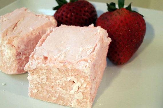 Strawberry Marshmallows 1 dozen Gourmet homemade marshmallows by ...