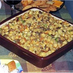easy sausage stuffing -use 3 cups broth and make night before minus ...