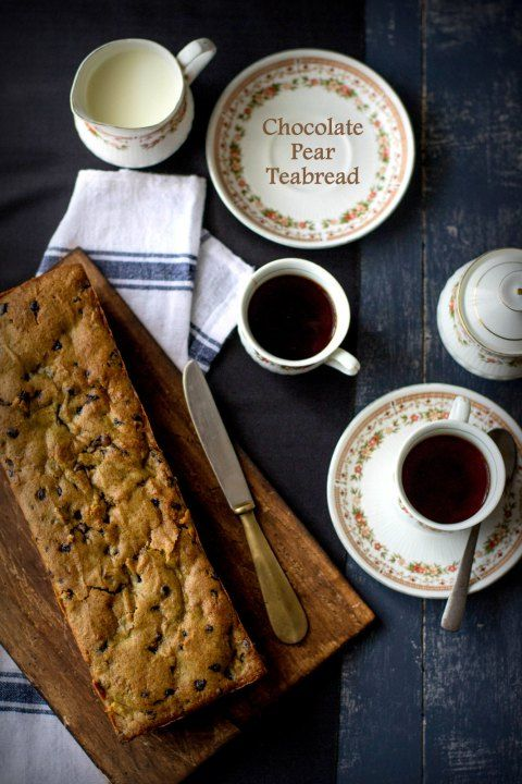 Chocolate Pear Teabread Recipe // #breads #sweet