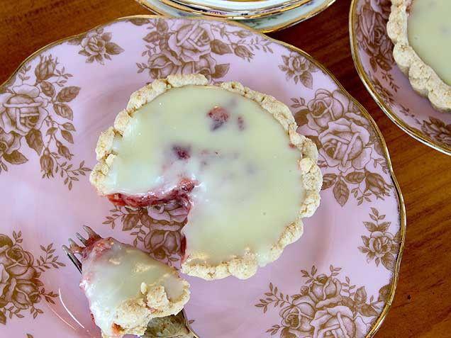 Strawberries and Cream Tart with White Chocolate Ganache