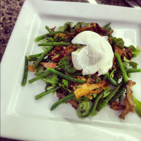 Wild Mushroom Salad w/ a Poached Egg by @ChefAntonia. An easy ...