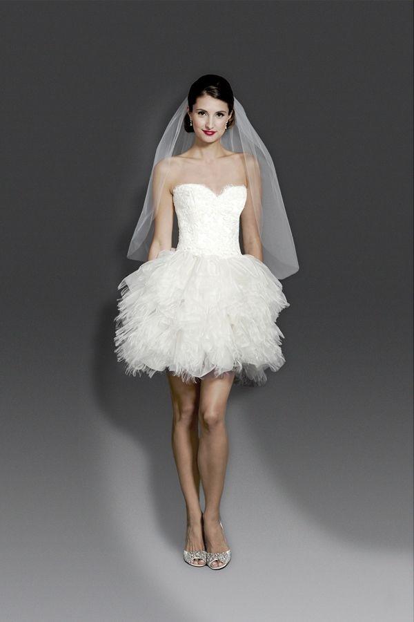 Short wedding dresses modern trousseau short wedding for Short couture wedding dresses