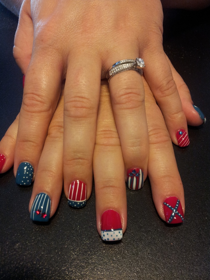 4th of July shellac | american pride | Pinterest