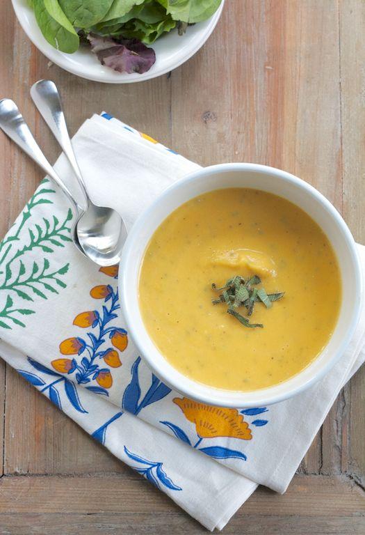Butternut Squash & Sage Soup | soups | Pinterest