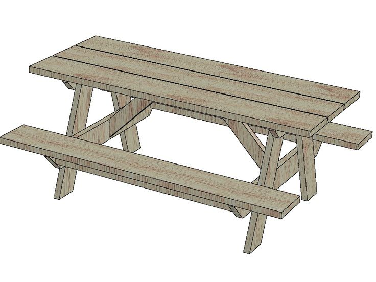 Foot+Picnic+Table+Plans The picnic table plans below is for a six ...