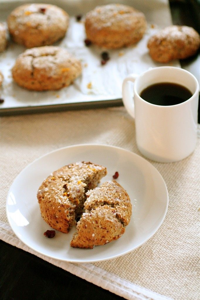 The Curvy Carrot » Whole Wheat Cranberry Orange Scones