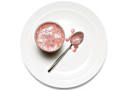 cup skim milk,1 cup frozen cherries, 1/4 cup low-fat vanilla yoghurt ...