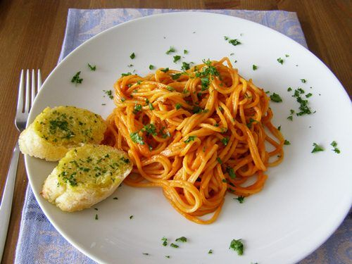 Creamy Tomato and Basil Pasta Sauce | Vegan Goods | Pinterest