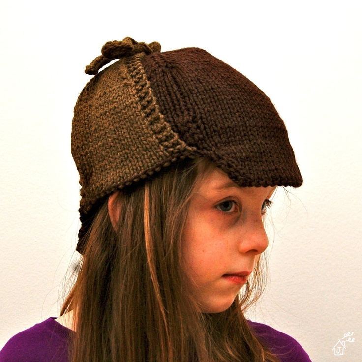Knitting Patterns For Young Knitters : KNITTING PATTERN - Young Sherlock Knit Cap (PDF Download)