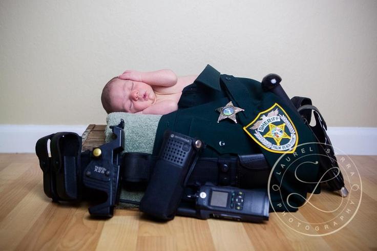 police officer newborn