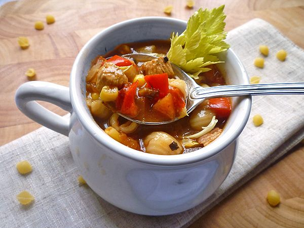 Chicken, Tomato and Pasta Soup | Soup Warms the Soul | Pinterest