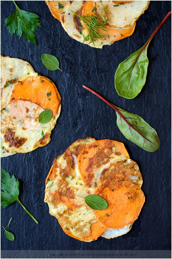 Yam and Turnip Galettes | Food I Have to Make | Pinterest