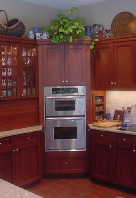 built in corner wall oven kitchen pinterest. Black Bedroom Furniture Sets. Home Design Ideas