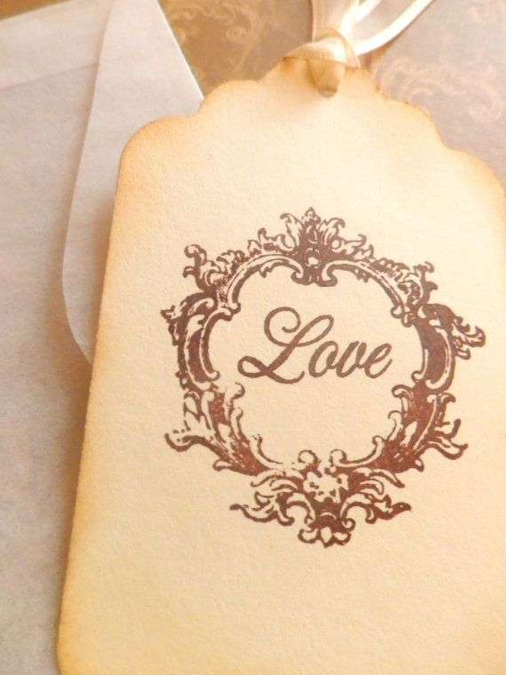 Vintage Love Wedding gift tags Wish Tags by PrettyPaperPalace, $5.95