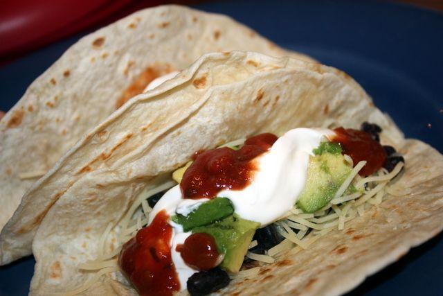 Black Bean and Avocado Tacos // Gourmet Veggie Mama