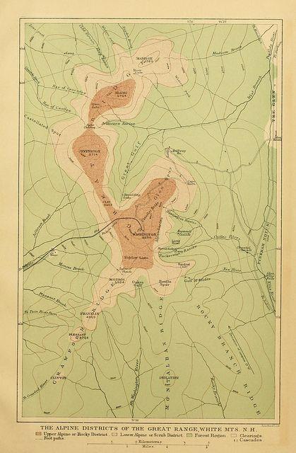 White Mountains New Hampshire Map  Maps  Pinterest