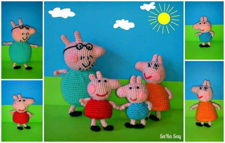 Amigurumi Peppa Pig Mini : Peppa Pig amigurumi Handmade Toys Pinterest