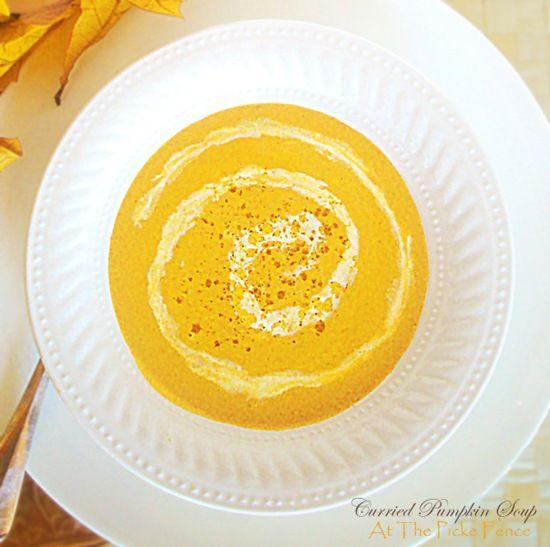 End of Pumpkin Week ... Curried Pumpkin Soup