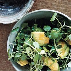 avocado watercress salad   Cocktail Hour   Pinterest