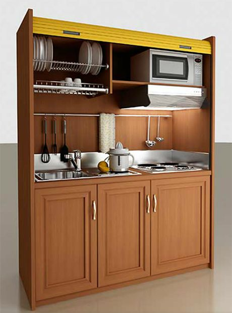 Mini kitchen compact living pinterest for Compact kitchen designs