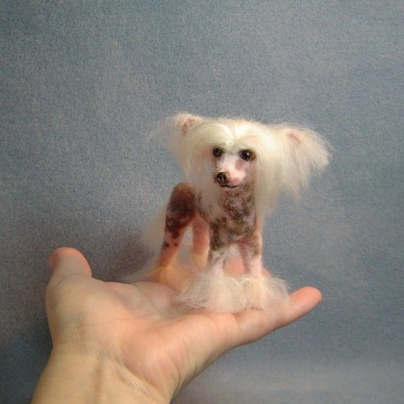Custom dog art needle felted sculpture