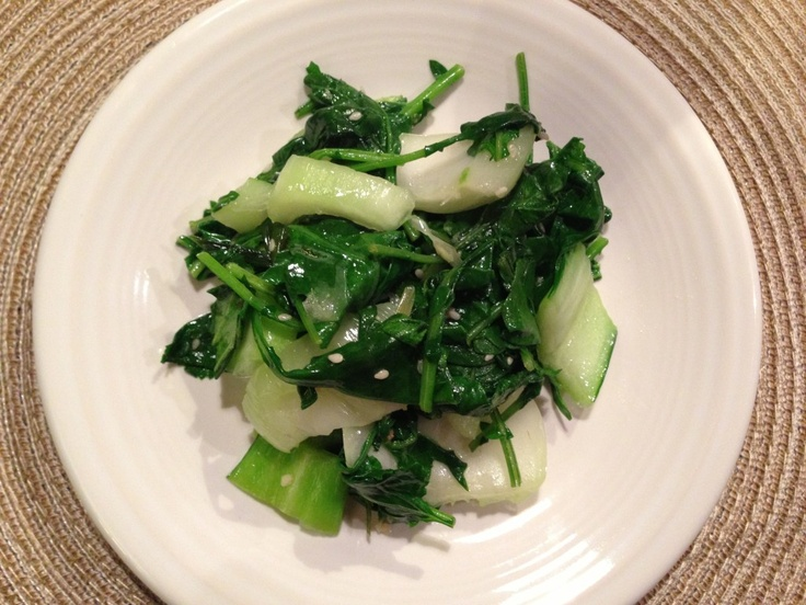 Kale & Bok Choy Stir Fry. Delicious with chickpeas, grilled shrimp ...