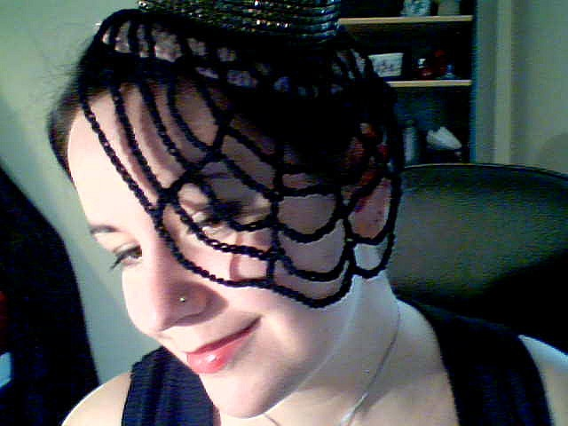 Crocheted Spiderweb Veil by zsanica_zsanica, via Flickr
