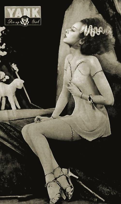 Bride of Frankenstien Pin UpBride Of Frankenstein Actress