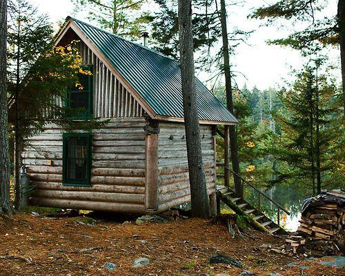 Log Modern Cabin Pinterest